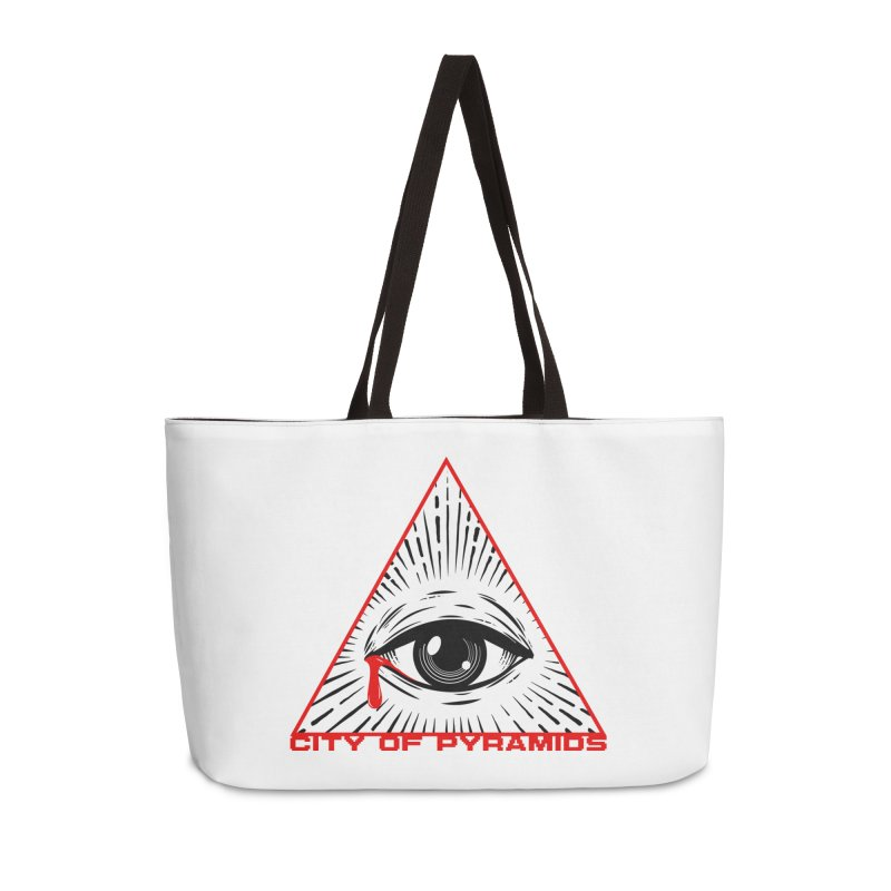 Eyeconic Tears Accessories Weekender Bag Bag by City of Pyramids's Artist Shop