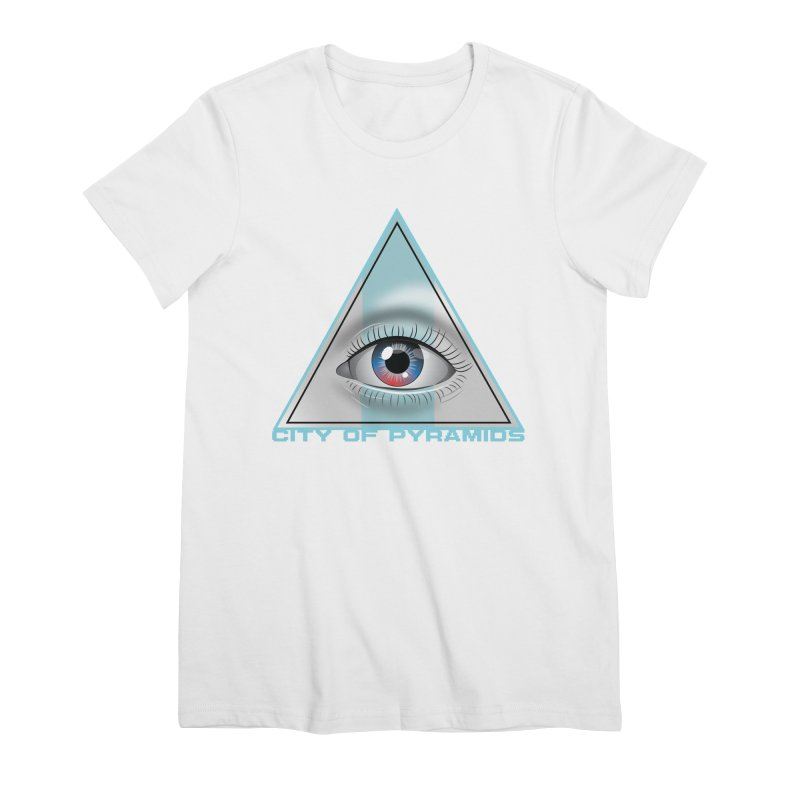 Eyeconic Blank Women's Premium T-Shirt by City of Pyramids's Artist Shop