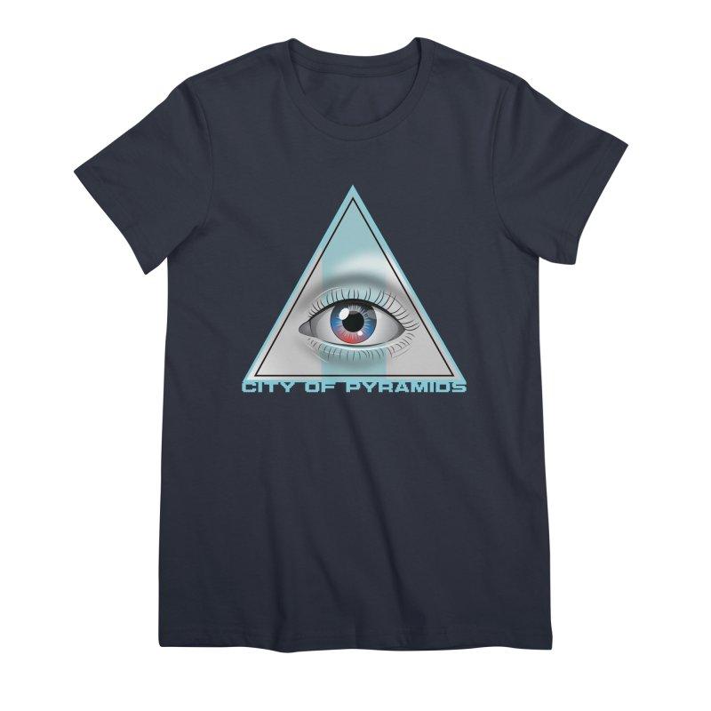 Eyeconic Blank Women's Premium T-Shirt by City of Pyramids's Artist Shop