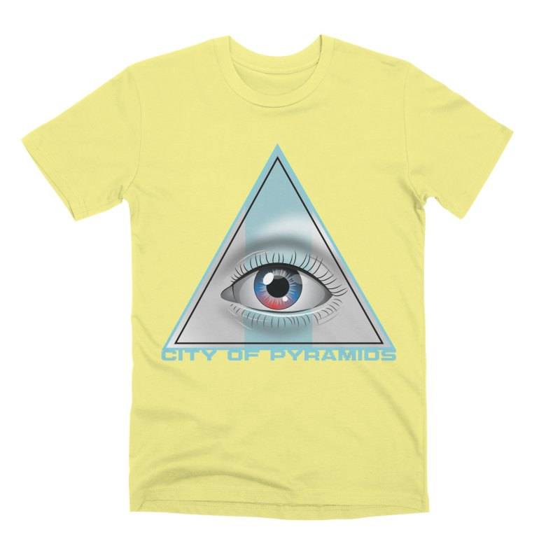 Eyeconic Blank Men's Premium T-Shirt by City of Pyramids's Artist Shop