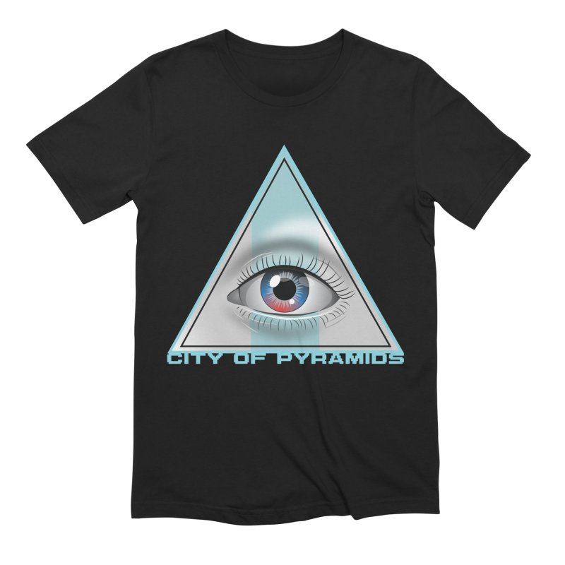 Eyeconic Blank in Men's Extra Soft T-Shirt Black by City of Pyramids's Artist Shop