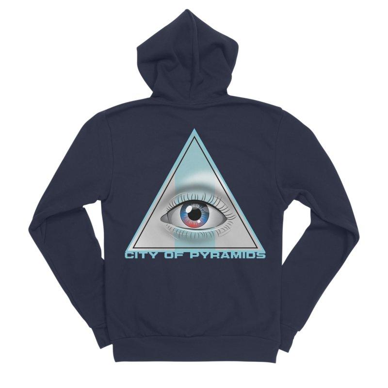 Eyeconic Blank Men's Sponge Fleece Zip-Up Hoody by City of Pyramids's Artist Shop