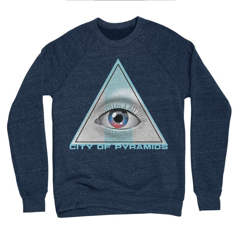 Eyeconic Blank Men's Sponge Fleece Sweatshirt by City of Pyramids's Artist Shop