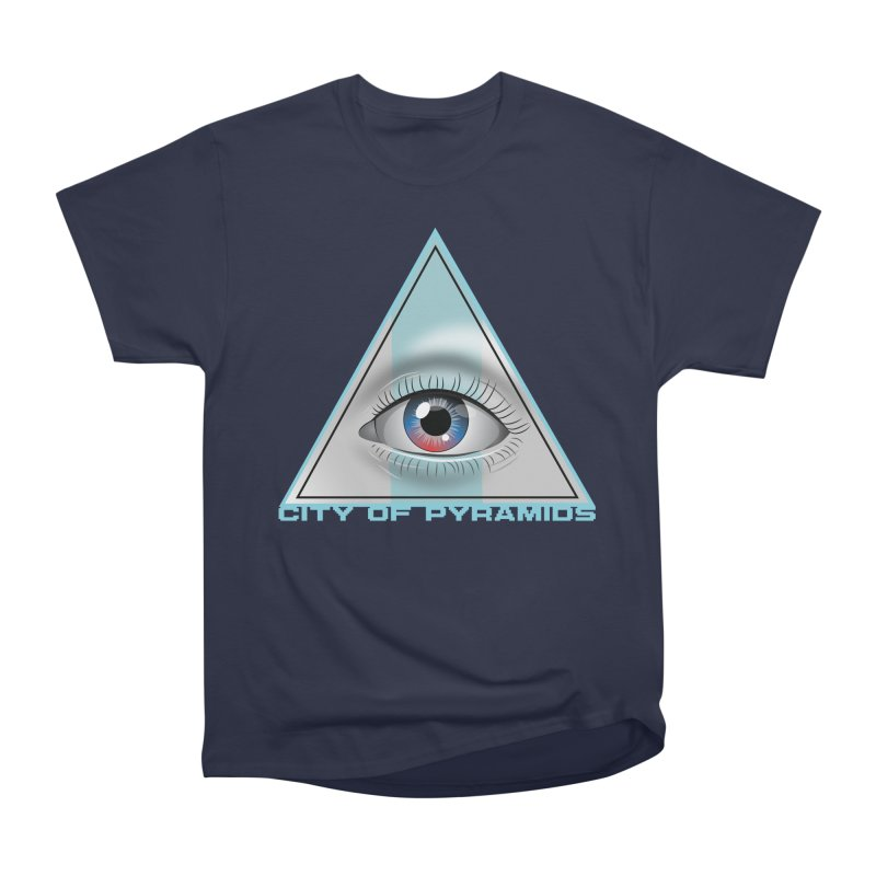 Eyeconic Blank Women's Heavyweight Unisex T-Shirt by City of Pyramids's Artist Shop