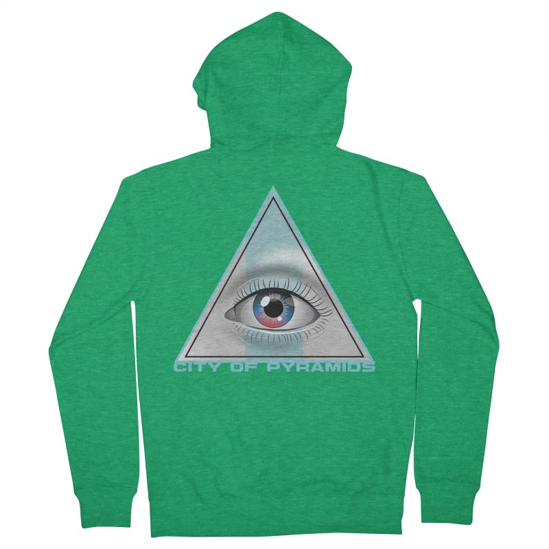 Eyeconic Blank Men's Zip-Up Hoody by City of Pyramids's Artist Shop