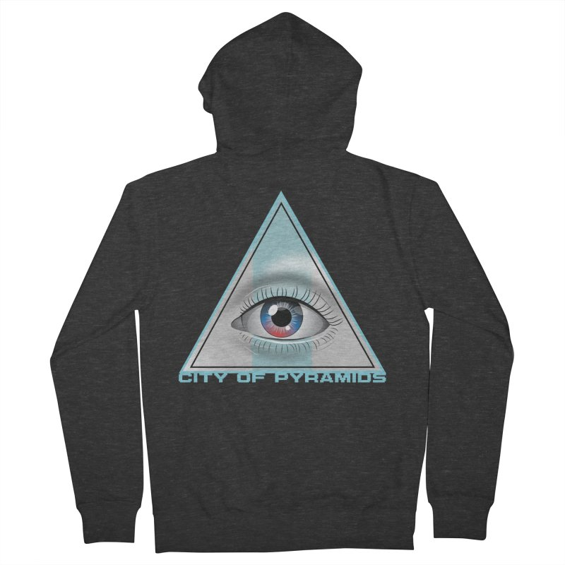 Eyeconic Blank Men's French Terry Zip-Up Hoody by City of Pyramids's Artist Shop