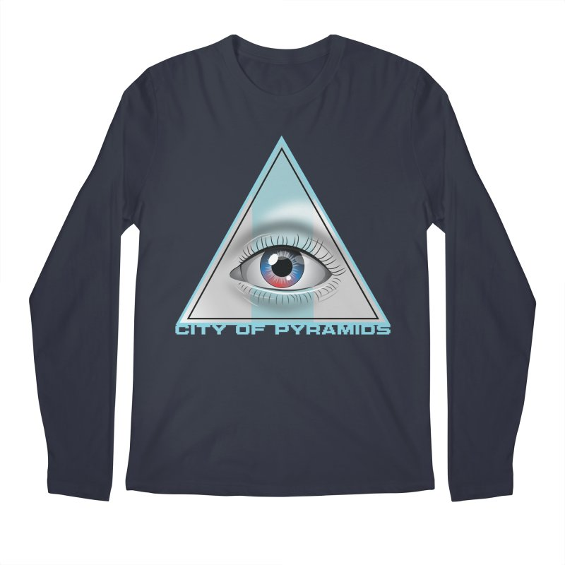 Eyeconic Blank Men's Regular Longsleeve T-Shirt by City of Pyramids's Artist Shop