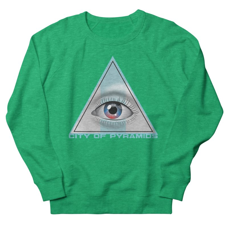 Eyeconic Blank Men's French Terry Sweatshirt by City of Pyramids's Artist Shop