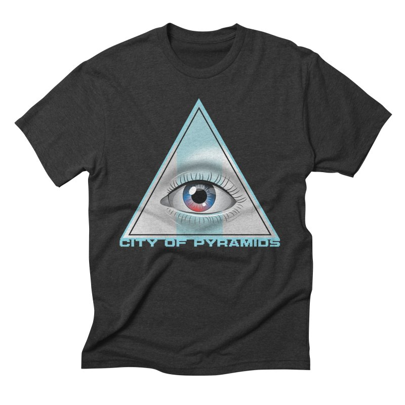 Eyeconic Blank Men's Triblend T-Shirt by City of Pyramids's Artist Shop