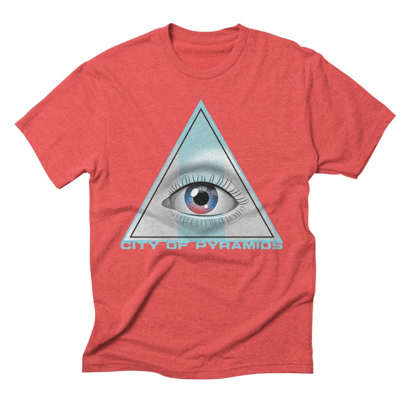 Eyeconic Blank Men's Triblend T-Shirt by City of Pyramids's Artist Shop