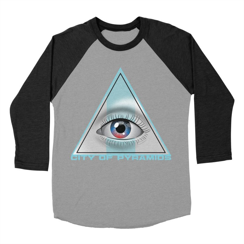 Eyeconic Blank Women's Baseball Triblend Longsleeve T-Shirt by City of Pyramids's Artist Shop