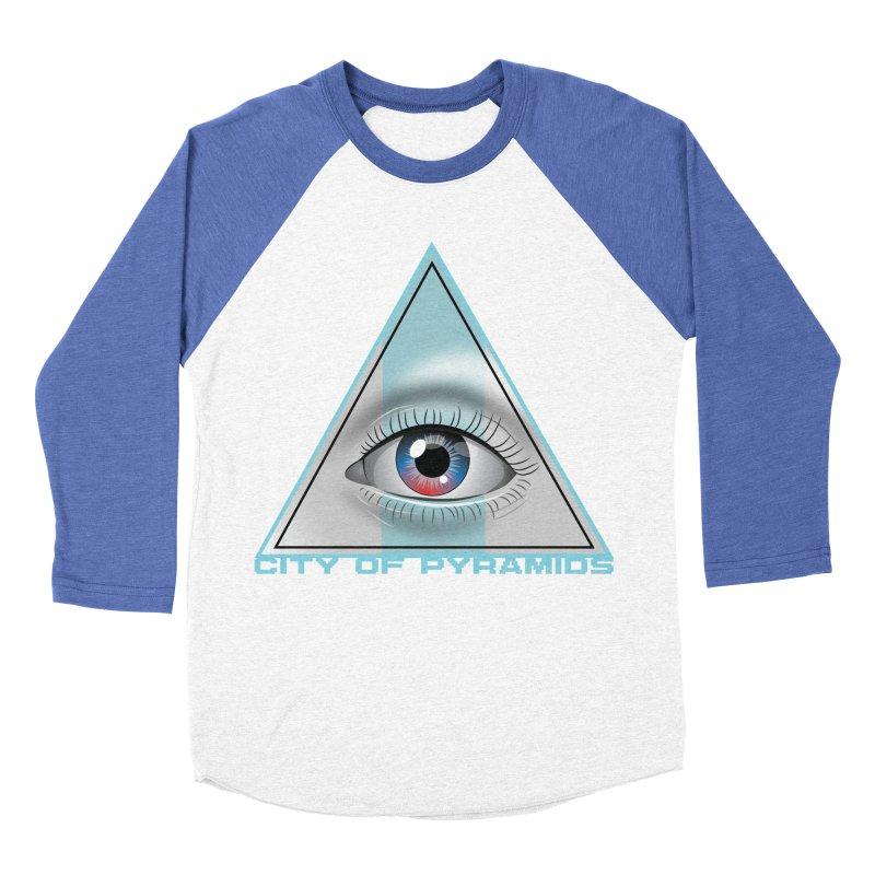 Eyeconic Blank Men's Baseball Triblend Longsleeve T-Shirt by City of Pyramids's Artist Shop