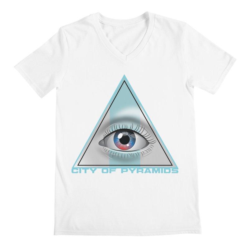 Eyeconic Blank Men's V-Neck by City of Pyramids's Artist Shop