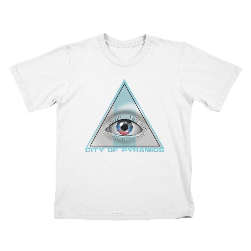 Eyeconic Blank Kids T-Shirt by City of Pyramids's Artist Shop