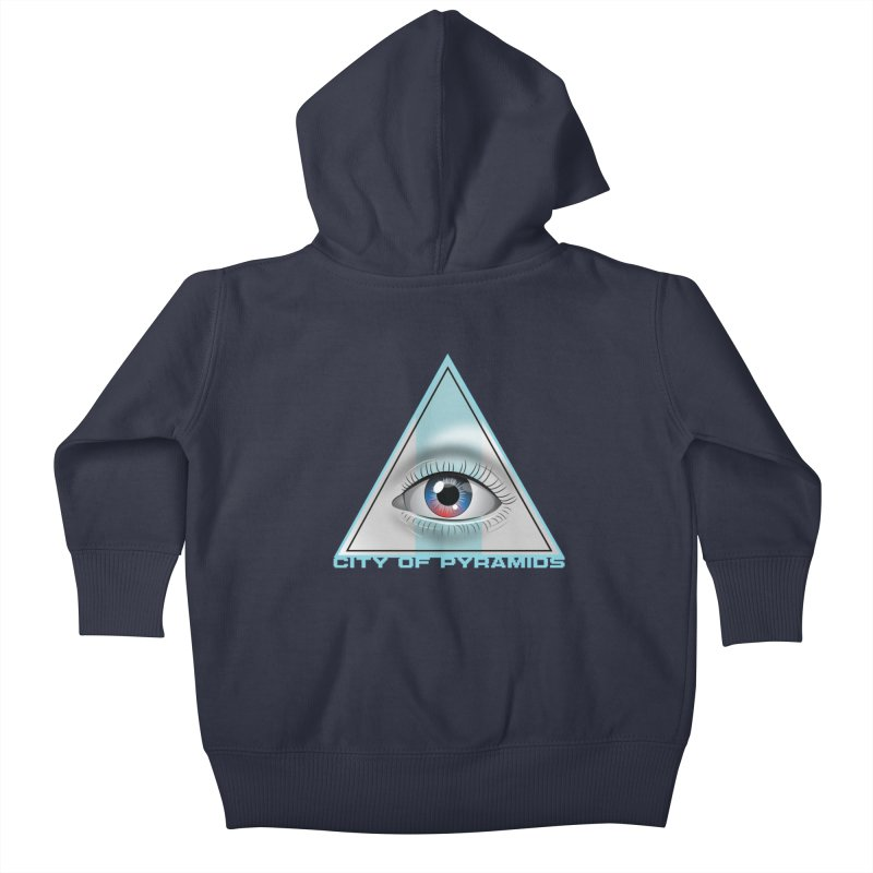 Eyeconic Blank Kids Baby Zip-Up Hoody by City of Pyramids's Artist Shop