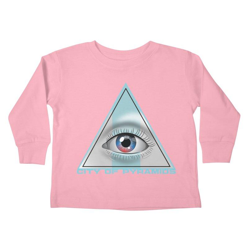 Eyeconic Blank Kids Toddler Longsleeve T-Shirt by City of Pyramids's Artist Shop