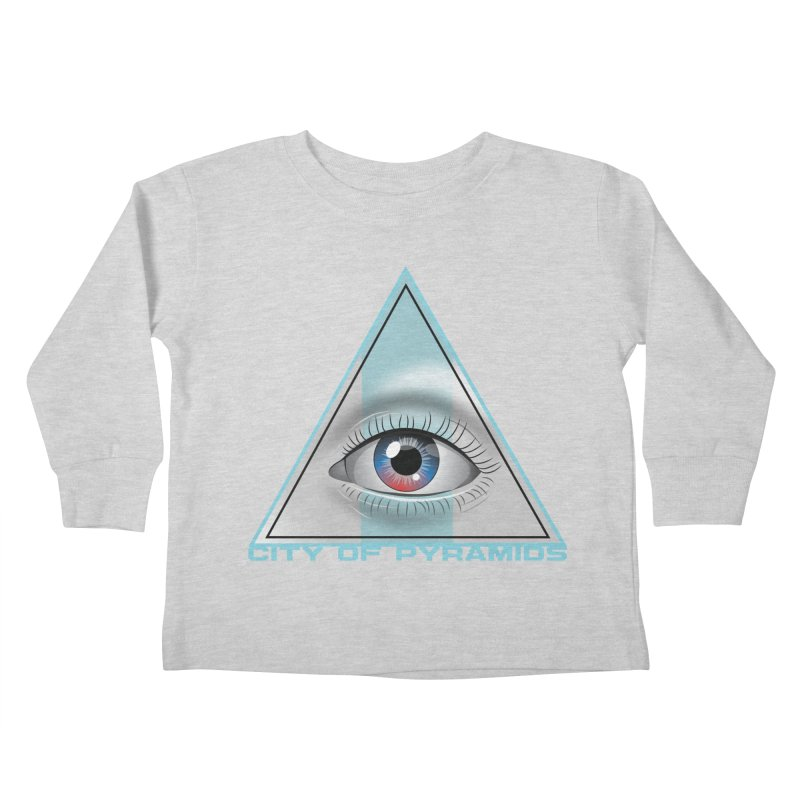 Eyeconic Blank Kids Toddler Longsleeve T-Shirt by City of Pyramids's Artist Shop