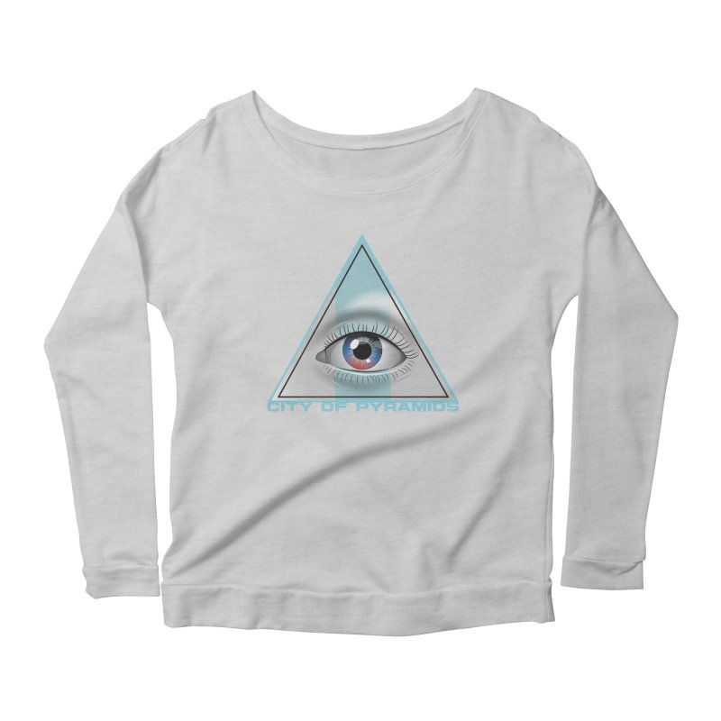 Eyeconic Blank Women's Scoop Neck Longsleeve T-Shirt by City of Pyramids's Artist Shop