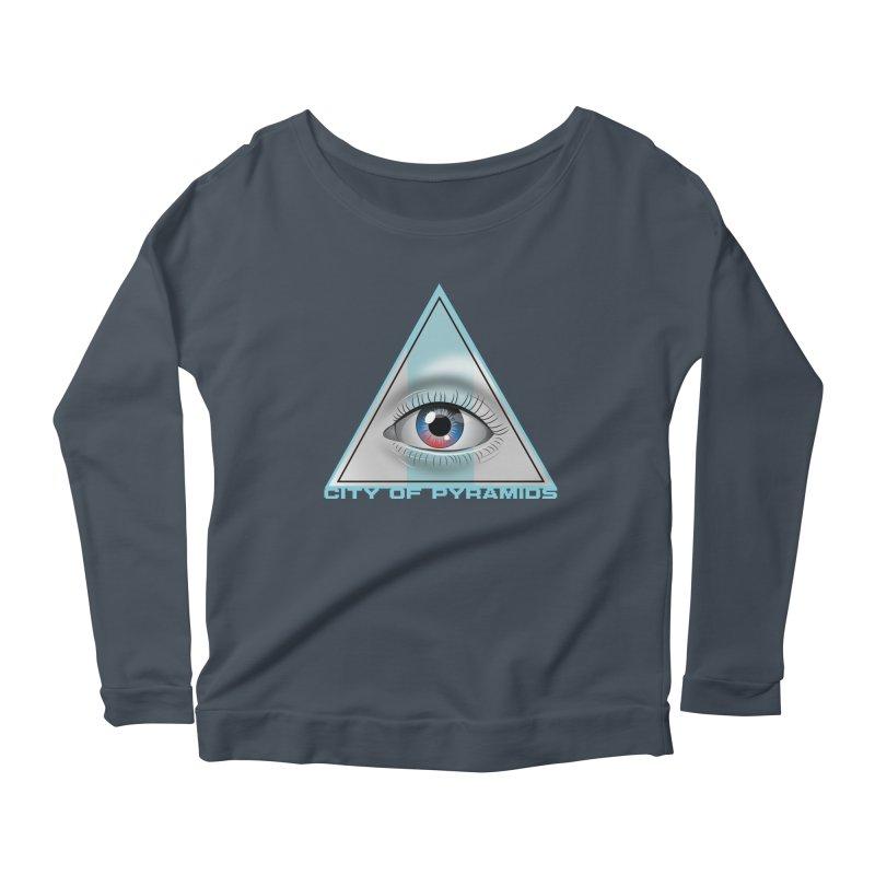 Eyeconic Blank Women's Scoop Neck Longsleeve T-Shirt by City of Pyramids's Artist Shop