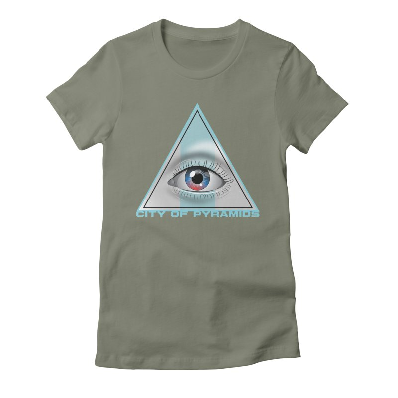Eyeconic Blank Women's Fitted T-Shirt by City of Pyramids's Artist Shop