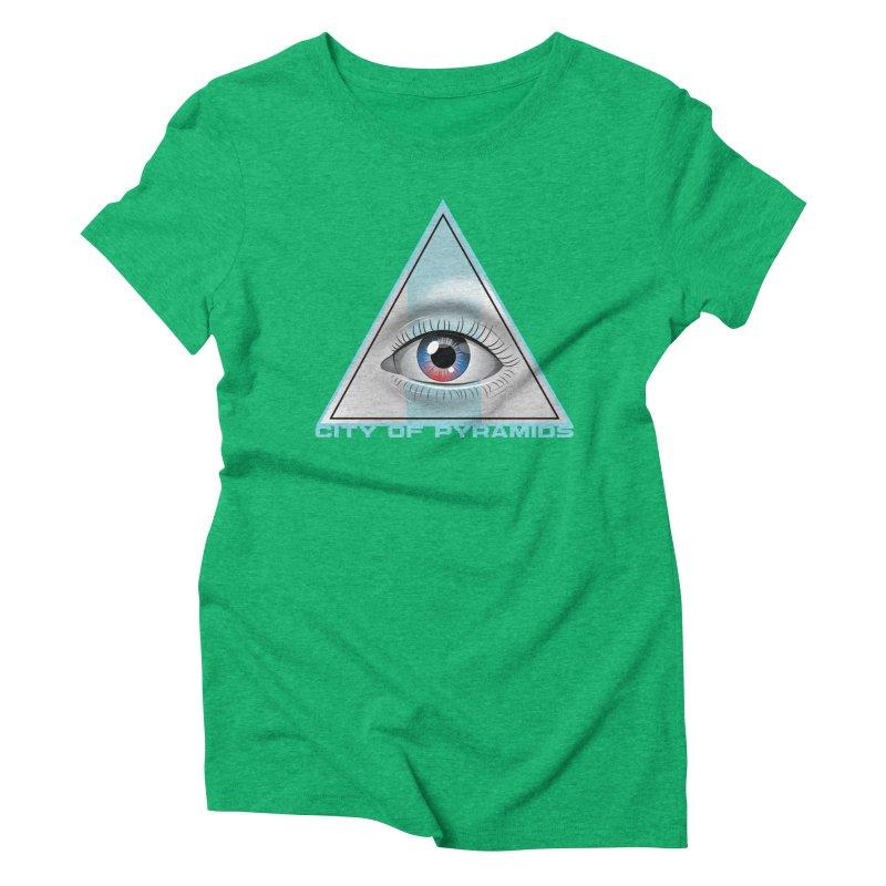 Eyeconic Blank Women's Triblend T-Shirt by City of Pyramids's Artist Shop