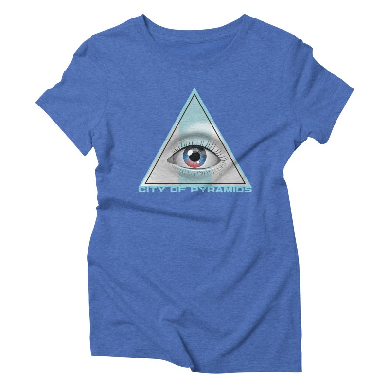 Eyeconic Blank Women's Triblend T-Shirt by City of Pyramids's Artist Shop