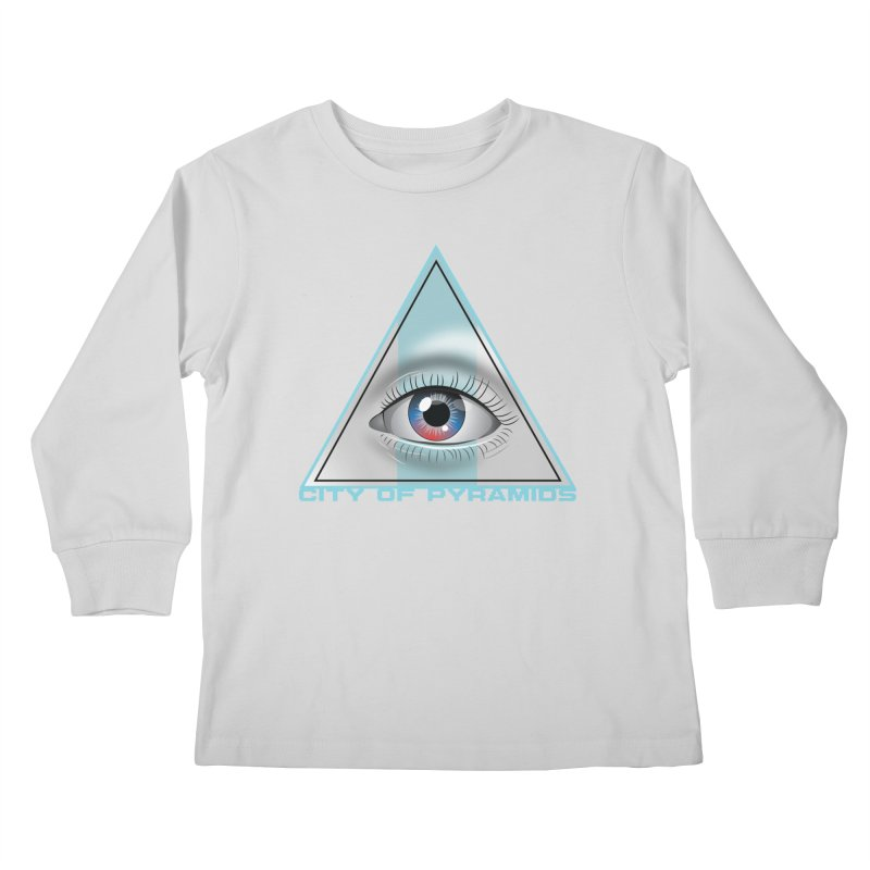 Eyeconic Blank Kids Longsleeve T-Shirt by City of Pyramids's Artist Shop