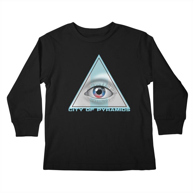 Eyeconic Blank Kids Longsleeve T-Shirt by City of Pyramids's Artist Shop
