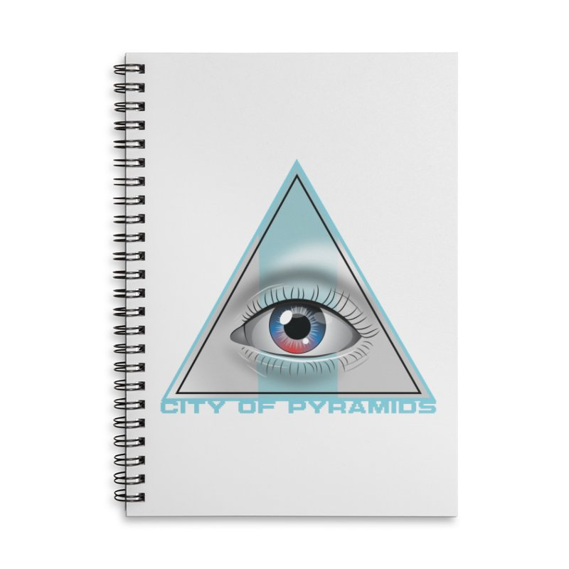 Eyeconic Blank Accessories Lined Spiral Notebook by City of Pyramids's Artist Shop