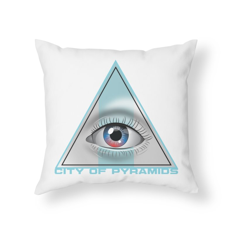 Eyeconic Blank Home Throw Pillow by City of Pyramids's Artist Shop