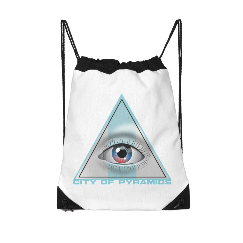Eyeconic Blank Accessories Drawstring Bag Bag by City of Pyramids's Artist Shop