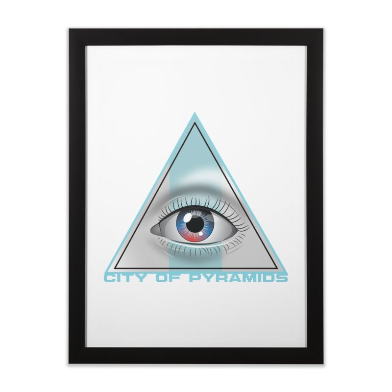 Eyeconic Blank Home Framed Fine Art Print by City of Pyramids's Artist Shop