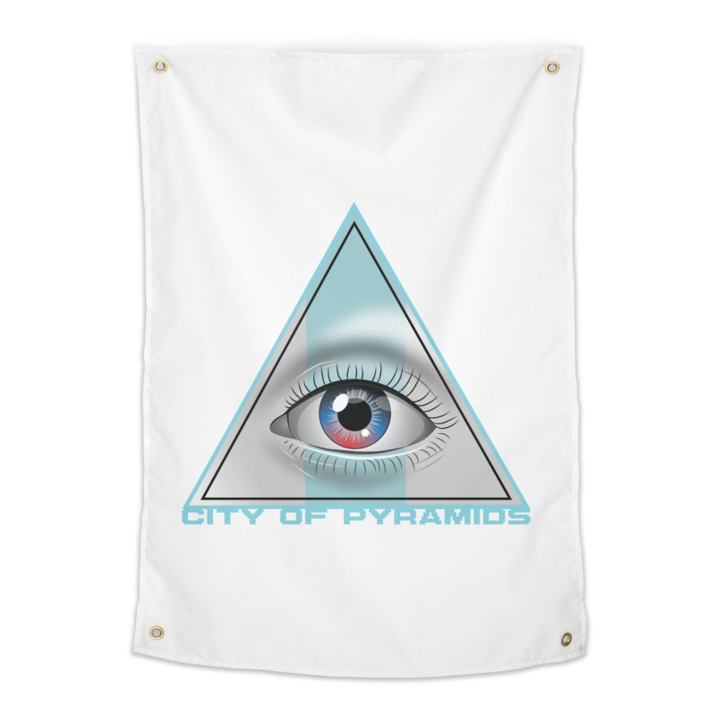Eyeconic Blank Home Tapestry by City of Pyramids's Artist Shop