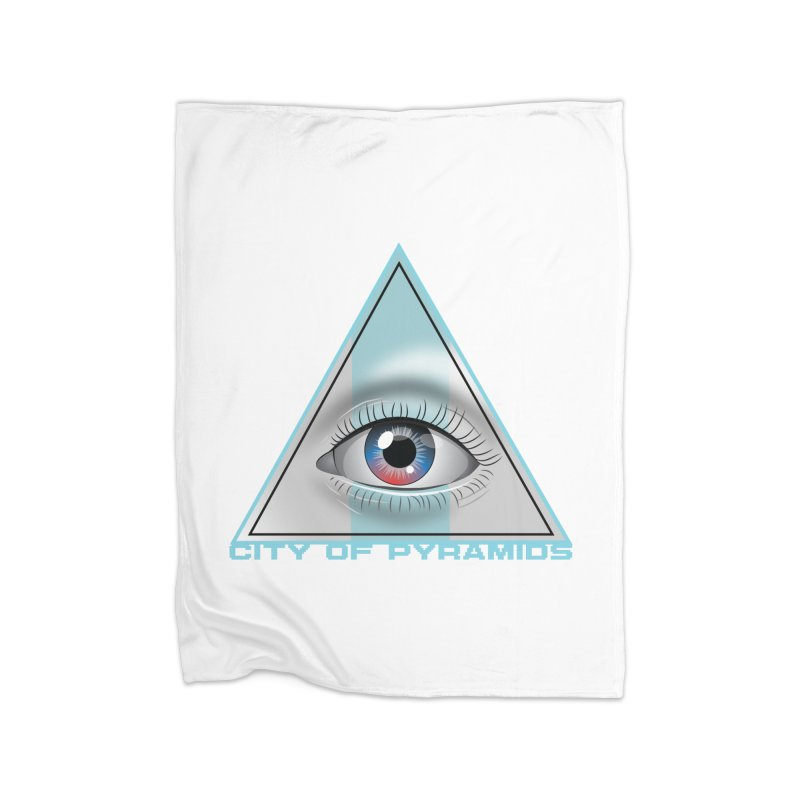 Eyeconic Blank Home Fleece Blanket Blanket by City of Pyramids's Artist Shop