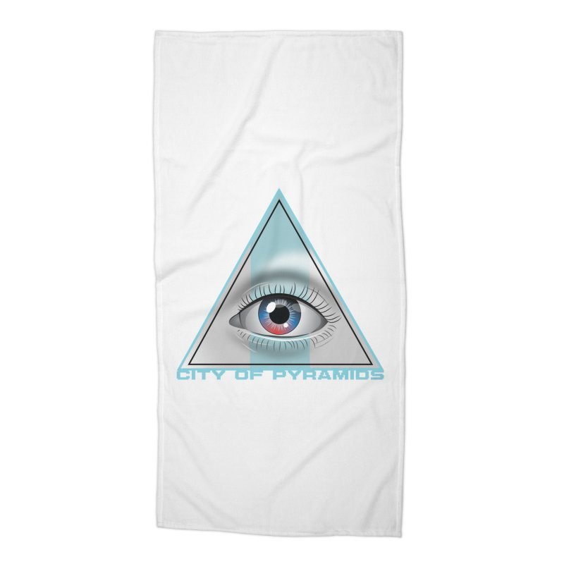 Eyeconic Blank Accessories Beach Towel by City of Pyramids's Artist Shop