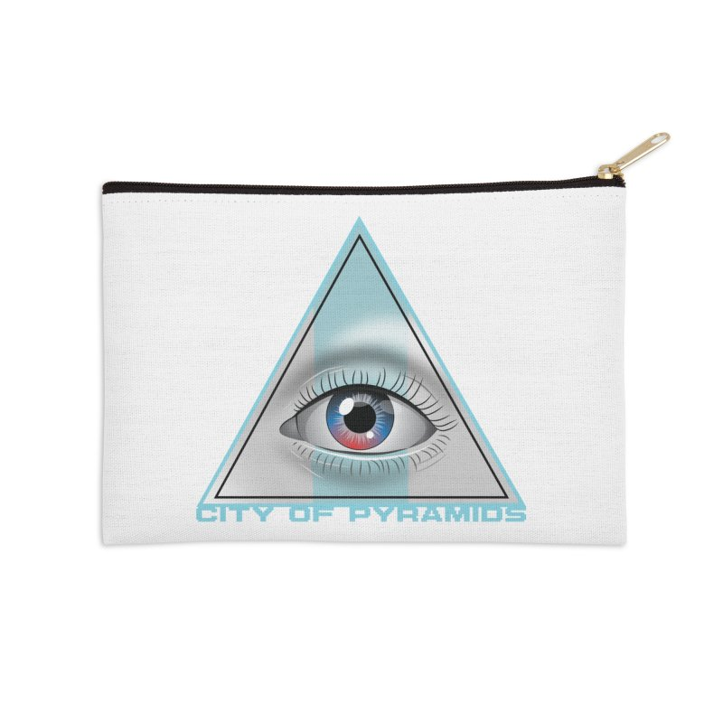 Eyeconic Blank Accessories Zip Pouch by City of Pyramids's Artist Shop