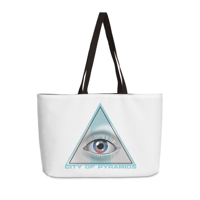 Eyeconic Blank Accessories Weekender Bag Bag by City of Pyramids's Artist Shop