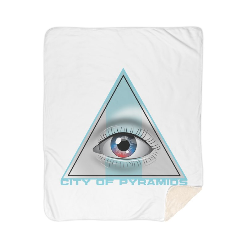 Eyeconic Blank Home Sherpa Blanket Blanket by City of Pyramids's Artist Shop