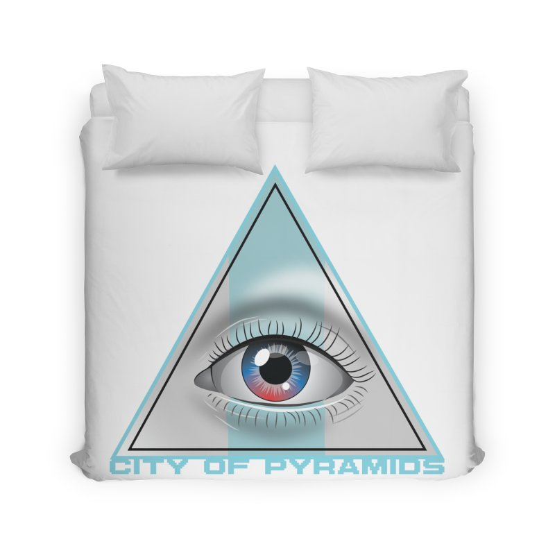 Eyeconic Blank Home Duvet by City of Pyramids's Artist Shop