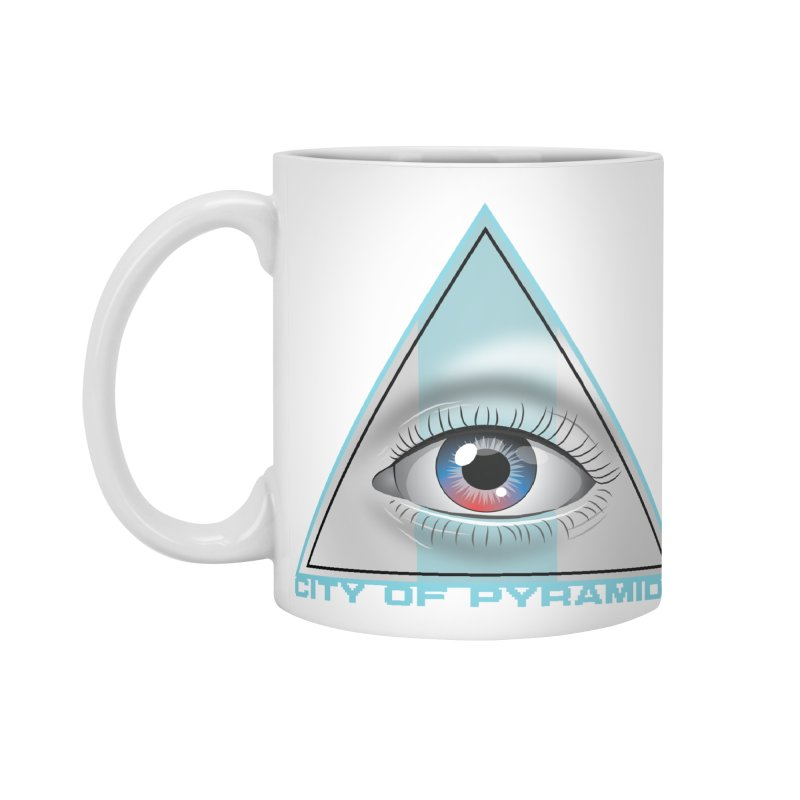 Eyeconic Blank Accessories Standard Mug by City of Pyramids's Artist Shop
