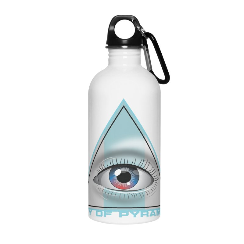 Eyeconic Blank Accessories Water Bottle by City of Pyramids's Artist Shop