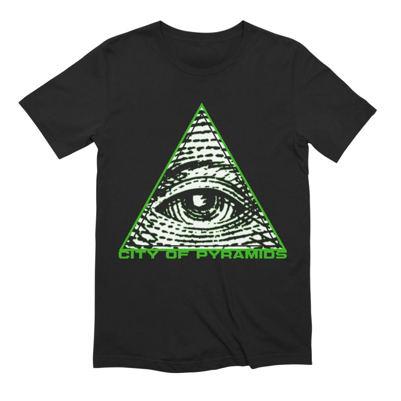 Eyeconic All Seeing Eye in Men's Extra Soft T-Shirt Black by City of Pyramids's Artist Shop