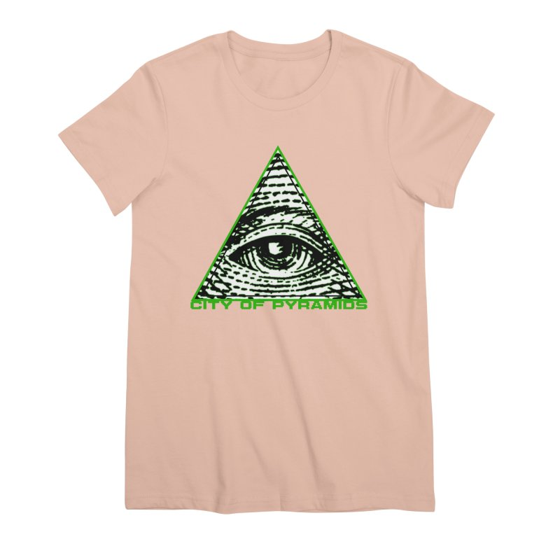 Eyeconic All Seeing Eye Women's Premium T-Shirt by City of Pyramids's Artist Shop