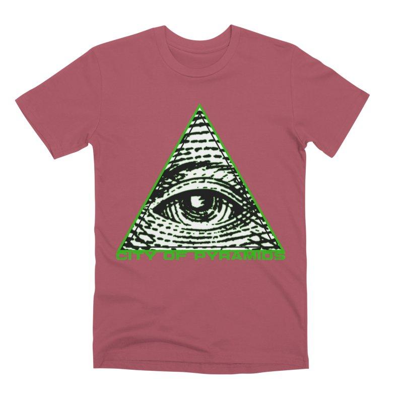 Eyeconic All Seeing Eye Men's Premium T-Shirt by City of Pyramids's Artist Shop