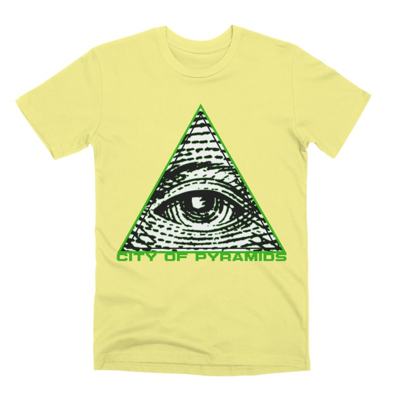 Eyeconic All Seeing Eye Men's Premium T-Shirt by City of Pyramids's Artist Shop
