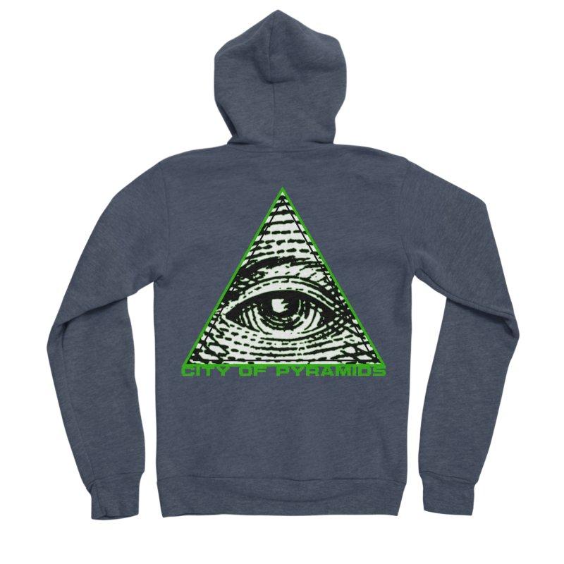 Eyeconic All Seeing Eye Men's Sponge Fleece Zip-Up Hoody by City of Pyramids's Artist Shop