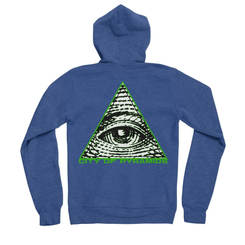 Eyeconic All Seeing Eye Men's Sponge Fleece Zip-Up Hoody by City of Pyramids's Artist Shop