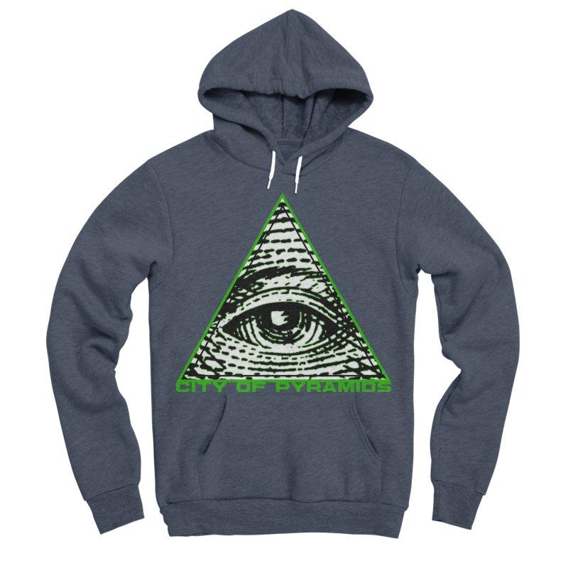 Eyeconic All Seeing Eye Men's Sponge Fleece Pullover Hoody by City of Pyramids's Artist Shop