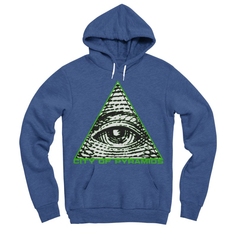 Eyeconic All Seeing Eye Men's Sponge Fleece Pullover Hoody by City of Pyramids's Artist Shop