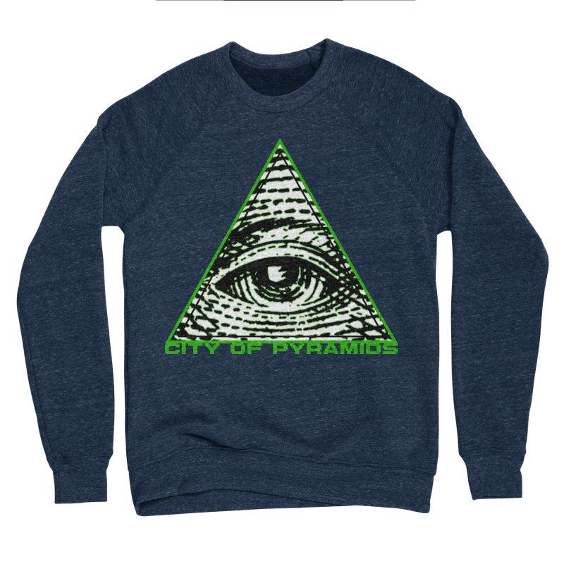 Eyeconic All Seeing Eye Men's Sponge Fleece Sweatshirt by City of Pyramids's Artist Shop